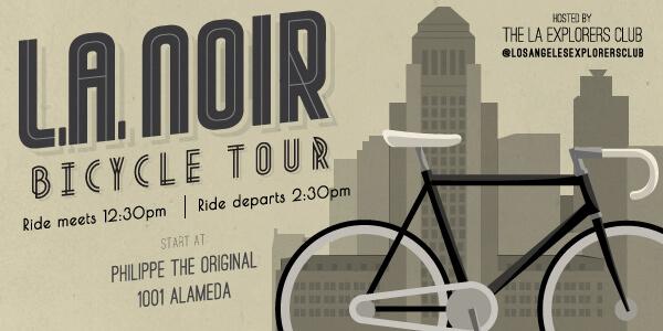 LA Noir Bicycle Tour Begins at Philippe's