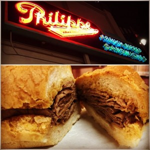 Philippes French Dip at Night