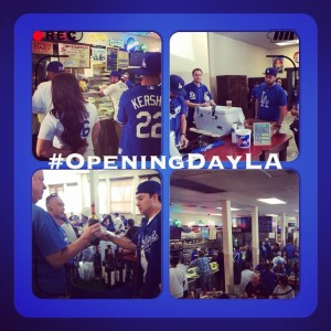Dodgers Opening Day at Philippes