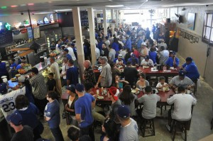Sea of Blue at Philippe's on Dodgers Opening Day