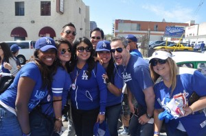 Fun at Philippe's for Dodgers Opening Day